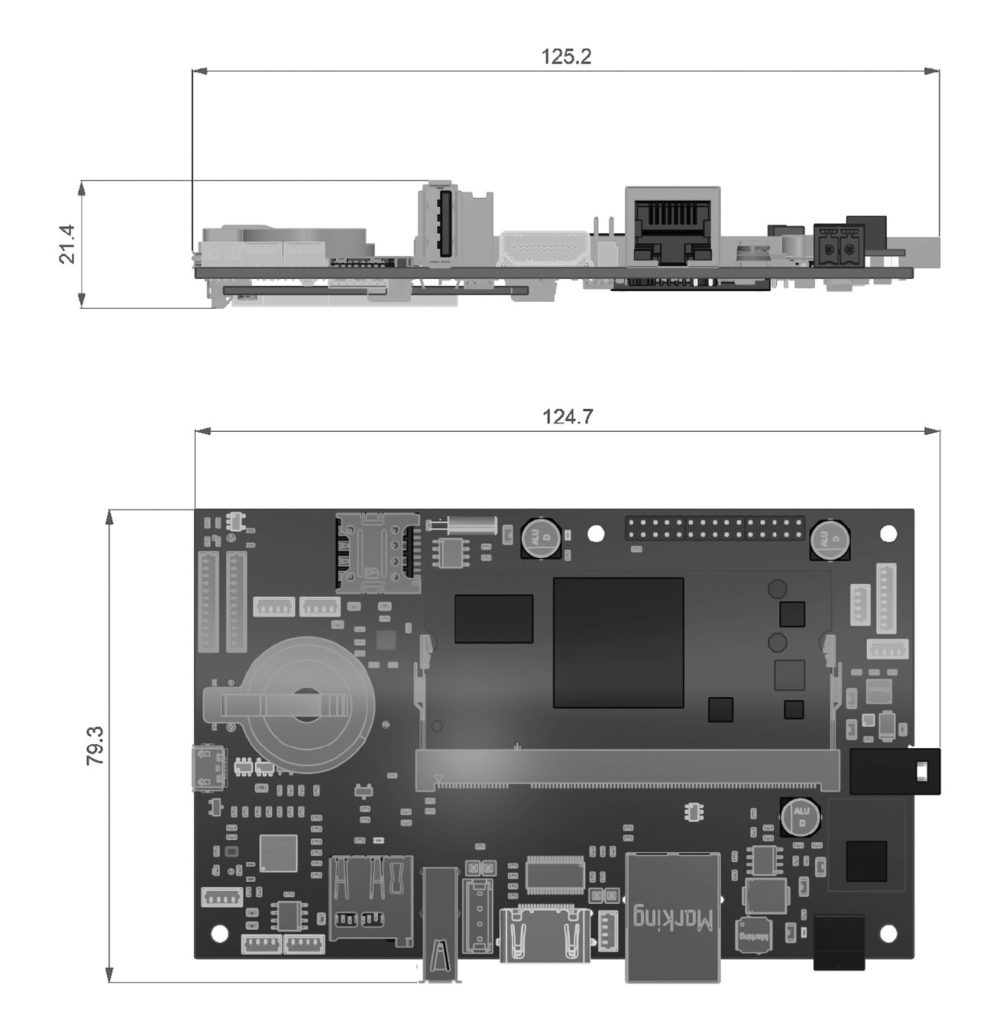 DTouch2 dimensions