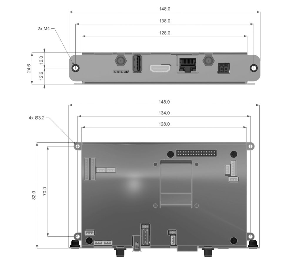 DTouch2 metal case dimensions